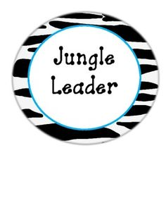 Jungle Themed Classroom Management Chart