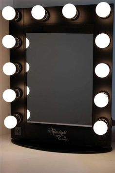 Starlight Hollywood Lighted Vanity Makeup Mirror Table Top w/ Dimmer