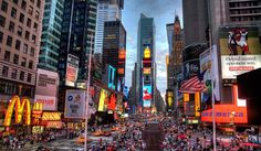 """#landmark, #USA, #traveling, Times Square on Hostelman.com Times Square is sometimes referred to as The Crossroads of the World, The Center of the Universe, the heart of The Great White Way, and the """"heart of the world""""."""