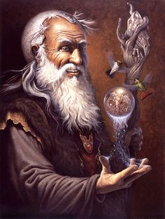 Resonate Energy by Charles Frizzell High Fantasy, Fantasy World, Fantasy Art, Gandalf, Wizard Tattoo, Male Witch, Fantasy Wizard, Tarot Gratis, Legends And Myths