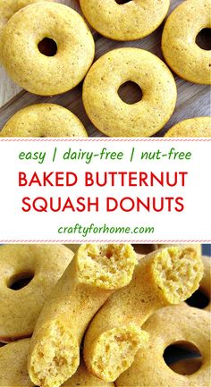 This easy baked butternut squash donuts recipe is easy, fun, and delicious for a snack or on-the-go breakfast. The butternut squash donuts are baked instead of fried, delicious, and perfect for fall season friendly meal. Dairy-free, nut-free. Desserts Diy, Dessert Recipes, Fried Bread Recipe, Baked Butternut Squash, Donut Recipes, Dairy Free Recipes, Nut Free, Fall Season, Pumpkins