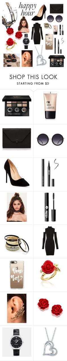 """Happy Hour is Every Hour For Me"" by savagecabbage86 on Polyvore featuring Bobbi Brown Cosmetics, Charlotte Russe, Valextra, Alice + Olivia, Liliana, Missguided, Venus, Versus, Casetify and Disney Couture"