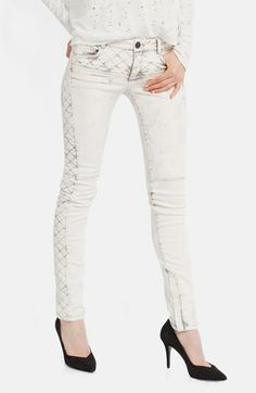 maje 'Downtown' Colored Stretch Skinny Jeans | @Nordstrom