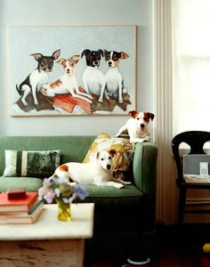 Oh, the painting? It's ancestral…our JRT forefathers from England, of course!