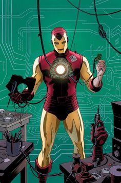 The Ditko model of Iron man, by Paolo Rivera. Just lovely.