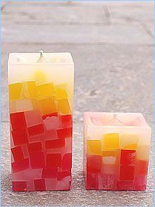 Kit de velas com mosaico. #artesanato #candle #handicraft #craftwork #brasil