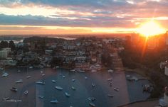 Sunsets over Sydney Harbour