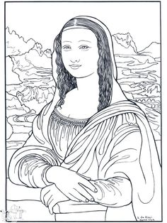 Coloring pages from real artists