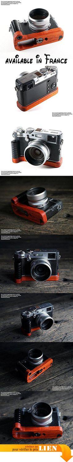 B076VQSS12 : Jianying Poignée pour appareil photo Fuji FUJIFILM x100F | Camera J.B. Poignée Grip en bois PADAUK en rigide inoxydable africain et aluminium anodisé | Appareil photo de Camera Designs USA | couleur: Orange Rouge Jusqu'à Marron Rouge (bois) noir mat (Aluminium). Camera Grip de J.B. Camera designs fabriqué en Oklahoma États-Unis authentiques avec plaque de fond poignée de marque-massive photo de J.B. 'Hot Iron en Padouk africain en bois dur