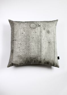 Cushion cover with CONCRETE print on front and back, part of the collection MAKING HARD THINGS SOFT. Designed by HOW ARE YOU. Made in Sweden. via Kollekt store