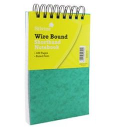 "Buy the new ""Silvine Spiral Bound Shorthand Notebook"" online today. Now in stock."
