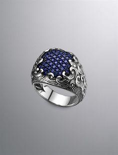 David Yurman  Men's Ring Sapphire