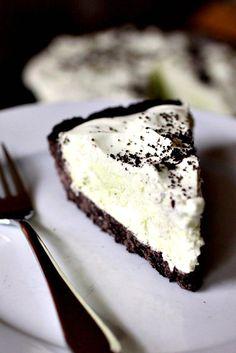 Oreo Cookie Crust - Grasshopper Pie