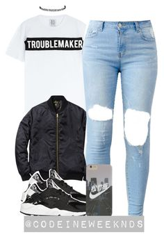 A fashion look from July 2015 featuring white tee, bomber style jacket and vegan shoes. Browse and shop related looks. Swag Outfits, Nike Outfits, Fall Outfits, Casual Outfits, School Outfits, Only Fashion, Teen Fashion, Fashion Outfits, Winter Looks