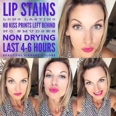 YOUNIQUE Lip Stains are AMAZING! Purchase individual or with a collection 💋