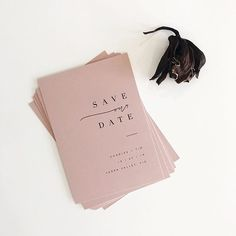 SAVE OUR DATE One for the modern minimalist who (like me) has a slight blush obsession ‍♀️ #paigetuzeetypography