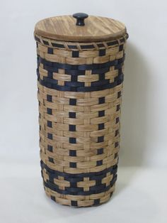 Bathroom Tissue BasketToilet Paper Basket by JGBaskets on Etsy, $35.00