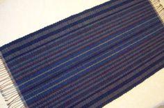 "Rag Rug -  Navy Blue - Corduroy  - Runner Length 55"" by 25.5"" on Etsy, $56.00"
