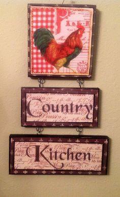 NEW Rooster Kitchen sign Farm Kitchen..Country von CraftsByJoyice