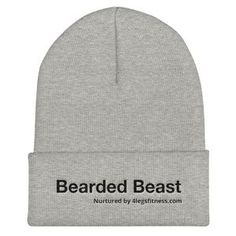 I am Inevitable Embroidered Cuffed Beanie-Comic Movie Lover-Marvel Fan-Nerdy Funny Present-Men Women Unisex Gift-Funny Saying Grey Beanie, Beanie Hats, Beanies, Beast Mode Hat, Trump Hat, Gifts For New Dads, White Embroidery, Unisex Fashion, Mini