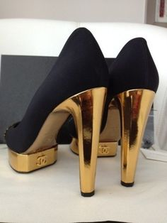 black, chanel, fashion, gold