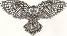 Owl tattoo stencil - Owl Free Tattoo Stencil - Free Owl Tattoo Designs For Men - Free Owl Tattoo Designs For Woman - Customized Owl Tattoos - Free Owl Tattoos - Free Printable Owl Tattoo Stencils - Free Printable Owl Tattoo Designs Celtic Tatoo, Celtic Art, Celtic Dragon, Owl Tattoo Design, Tattoo Designs, Tattoo Ideas, Buho Tattoo, Celtic Animals, Tattoos Realistic
