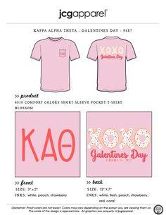 JCG Apparel : Custom Printed Apparel : Kappa Alpha Theta Galentine's Day T-Shirt #kappaalphatheta #theta #kat #galentines #donut #galpals