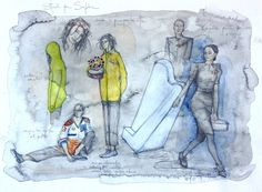 Giuseppina Maurizi - costume designer - ghost track - movie - sketches