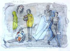 Giuseppina Maurizi - costume designer - ghost track - movie - sketches