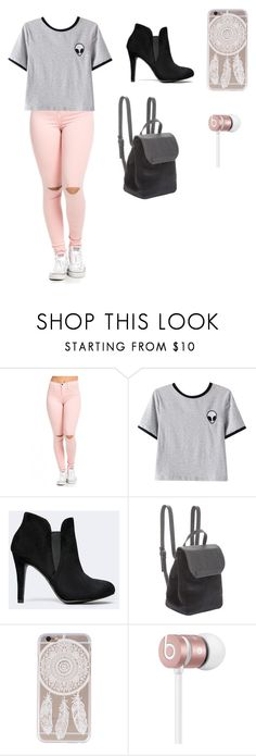 """""""school"""" by devin-scarver ❤ liked on Polyvore featuring Chicnova Fashion, BCBGeneration and Beats by Dr. Dre"""