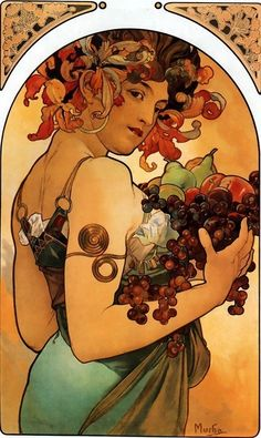 Alphonse Mucha, art nouveau at its best Alfons Mucha - Secese Posters Vintage, Retro Poster, Vintage Art, French Posters, Vintage Wine, Vintage Prints, Art And Illustration, Mucha Art Nouveau, Alphonse Mucha Art