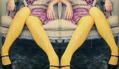 yellow tights can look good