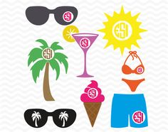 Beach SVG, DXF, EPS, Circle monogram files, Summer.  Vinyl cutting files, for use with Silhouette Cameo and Cricut Design Space. by ESIdesignsdigital on Etsy https://www.etsy.com/listing/229731608/beach-svg-dxf-eps-circle-monogram-files
