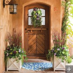 This is a neat door shape...I would want a door made to open in the top and bottom half separately....maybe in the mudroom?