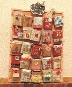 Juliart: DIY Calendario de adviento de scrapbooking. Plantilla en el blog! / Juliart: DIY Scrapbooking advent calendar. With template.