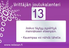 Joulukalenteri #yrittäjä