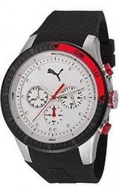 Relógio Puma Fast Track - L Silver Black Men's watch PU102821001 #Relogios #Puma