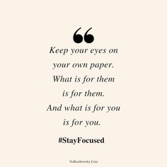 With all the distractions it's so hard to stay focused on your goals. Here are 6 ways to activate your tunnel vision so you can stay focused on your goals no matter what! Focus On Me Quotes, Focusing On Yourself Quotes, Stay Focused Quotes, Vision Quotes, Focus On Your Goals, Goal Quotes, Focus On Yourself, Be Yourself Quotes, Worry About Yourself Quotes
