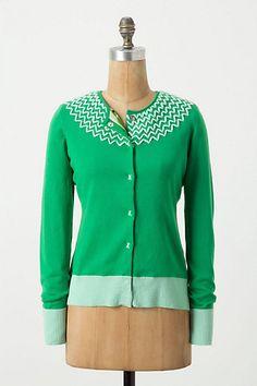 i want soooo bad i can taste it! tastes like kelly green....Crossed Heart Cardigan - Anthropologie.com