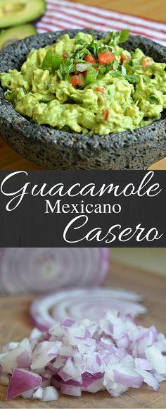 Esta es la mejor receta para guacamole casero. No solamente es sencillo prepararlo, pero también es delicioso. Hors D'oeuvres, Latin Food, Deviled Eggs, Food For Thought, Appetizers, Chopped Salads, Eat, Cooking, Ethnic Recipes
