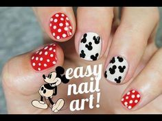 Diseño de uñas súper fácil y rápido con Mickey Mouse, ¡no os lo perdáis!