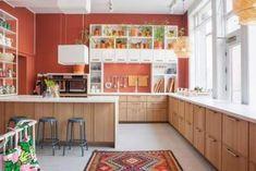 Kitchen Ikea Ekestad Cabinet Doors 42 Ideas #kitchen Backsplash Black Granite, Cement Countertops, Kitchen Splashback Tiles, Backsplash Cheap, Kitchen Flooring, Kitchen Furniture, Kitchen Decor, Kitchen Wall Shelves, Kitchen Cabinet Doors