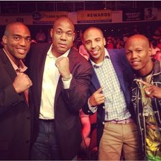 Great time at the fights last night with these guys!! Super Judah