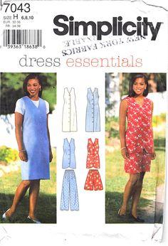 8 9 6 7 burda 9490 Girls/' Dress and Top 5 10 *Very Rare*  Sewing Pattern