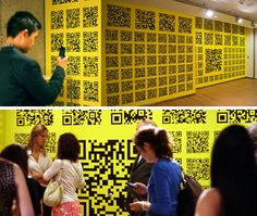 Rollout has developed a new wallpaper concept called QRious, covered in QR codes that lead you to various websites that they draw inspiration from.