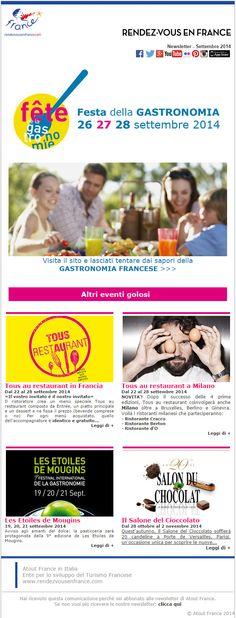 Festeggia con noi la gastronomia! 26, 27 e 28 settembre torna la Festa della Gastronomia e dal 22-28 settembre Tous au Restaurant... quest'anno anche in Italia  #ViaggiFrancia #FDLG2014 #FestadellaGastronomia2014 #FestadellaGastronomia
