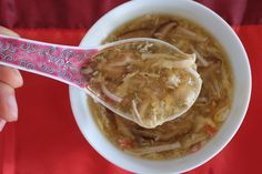 Lunar new year, to me, always involves some kind of sharks fin soup - real or imitation. My late grandmother adored decadence. Every lunar new year, she would order about a dozen of fresh chickens ...