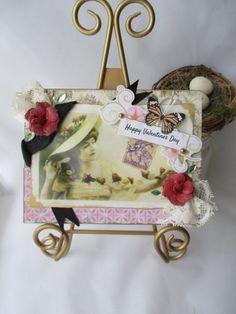 Valentines Day Handmade Card Vintage-style by MySweetGreetings