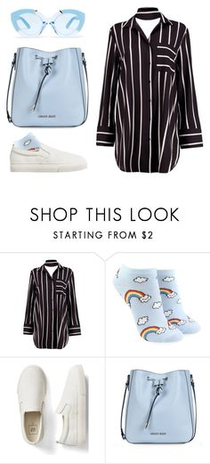 """wouldn't change a thing"" by a-huge-disappointment ❤ liked on Polyvore featuring Boohoo, Forever 21, Gap, Armani Jeans and Karen Walker"