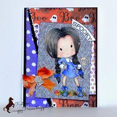 Polkadoodles Winnie Wednesday, Halloween, Card,  #pdcraft #pdoodlescraft